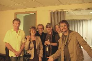 Robin & Jean backstage with Deep Purple